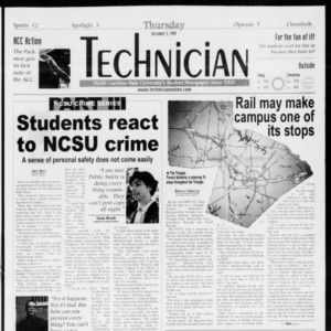 Technician, Vol. 79 No. 60, December 3, 1998