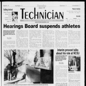 Technician, Vol. 79 No. 66, January 12, 1999