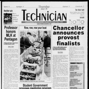 Technician, Vol. 79 No. 70, January 21, 1999
