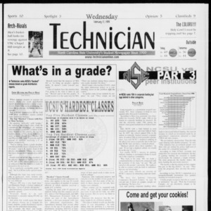 Technician, Vol. 79 No. 85, February 17, 1999