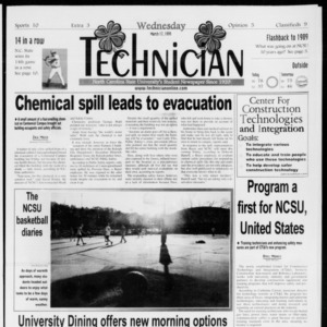 Technician, Vol. 79 No. 97, March 17, 1999