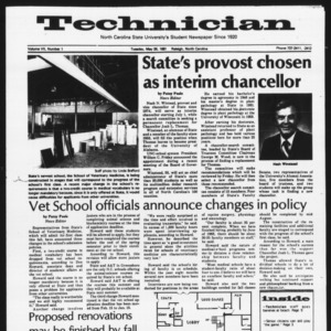 Technician, Vol. 7 No. 1 [Summer 1981 No. 1], May 26, 1981