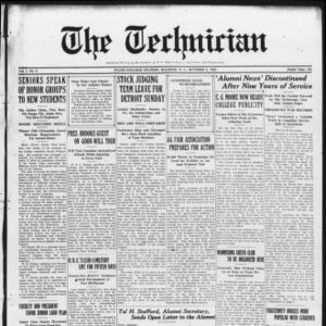 Technician, Vol. 7 No. 3, October 3, 1926