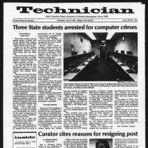 Technician, Vol. 7 No. 3 [Summer 1981 No. 3], June 10, 1981