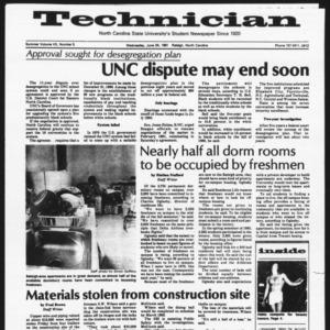 Technician, Vol. 7 No. 5 [Summer 1981 No. 5], June 24, 1981
