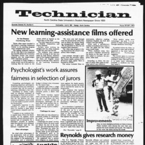Technician, Vol. 7 No. 6 [Summer 1981 No. 6], July 8, 1981
