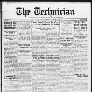 Technician, Vol. 7 No. 7, October 30, 1926