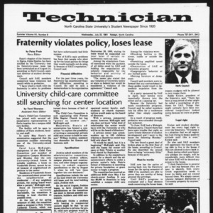 Technician, Vol. 7 No. 8 [Summer 1981 No. 8], July 22, 1981