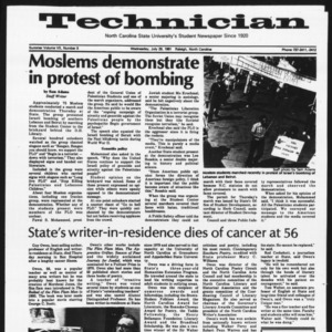 Technician, Vol. 7 No. 9 [Summer 1981 No. 9], July 29, 1981
