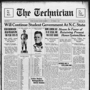 Technician, Vol. 9 No. 7, November 3, 1928