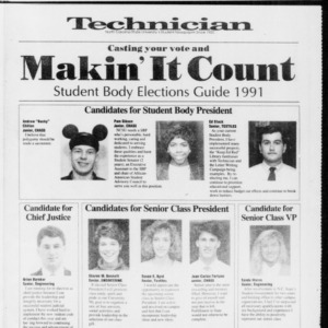 Technician Voting Guide, March 28, 1991