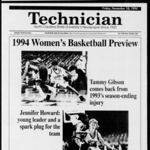 Technician Women's Basketball Preview, Vol. 75 No. 36a November 18, 1994