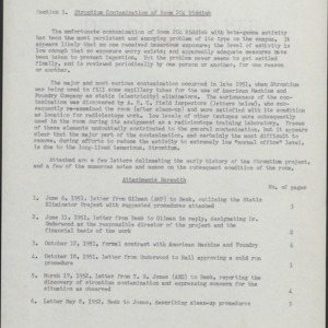 Committee, Radioisotopes -- Strotium Contamination of Room 204, Riddick, 1955