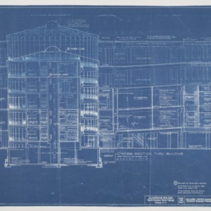 Harrelson Hall Classroom Building -- Cross Section Through Building