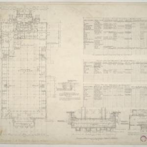 NCSU Armory -- Basement and Footing Plan