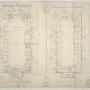 NCSU Armory -- Arena Floor Plan, Half Concourse and Grandstand Plan