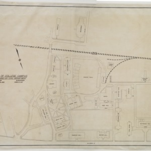 Map of North Carolina State College Campus, Prepared by Civil Engineering Department, 1935