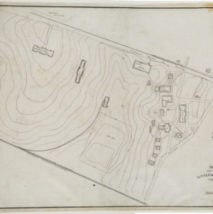 Topographic Map of North Carolina State College Campus, 1910