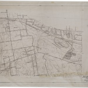 North Carolina State College, Western Boulevard, Southern Railway: Topographic and Contour Maps, 1950 (2 of 3)