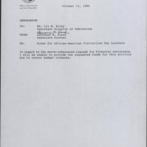 Admissions, Office of Undergraduate :: Correspondence