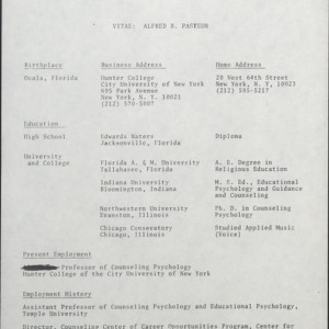 African American Lecture Series, Alfred B. Pasteur :: Correspondence