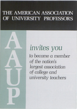 American Association of University Professors :: Correspondence