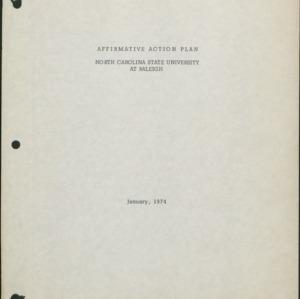 Affirmative Action Plan, Volume I (1 of 2) :: Affirmative Action Plans