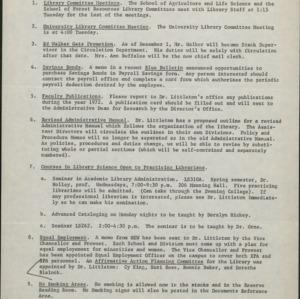 Affirmative Action Unit Reports, D. H. Hill Library :: Affirmative Action Plans