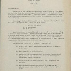 Affirmative Action Unit Reports, School of Textiles :: Affirmative Action Plans