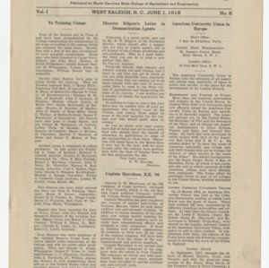 Alumni News, Vol. 1 No. 8, June 1, 1918