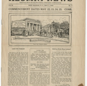 Alumni News, Vol. 3 No. 7, May 1, 1920