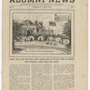 Alumni News, Vol. 4 No. 7, May 1921