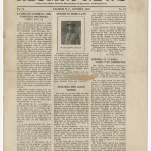Alumni News, Vol. 4 No. 12, October 1921