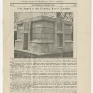 Alumni News, Vol. 5 No. 3, January 1922