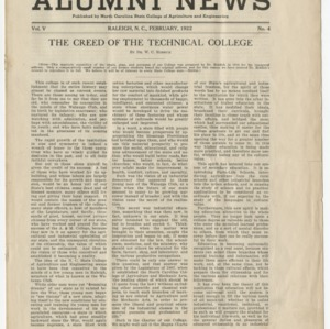 Alumni News, Vol. 5 No. 4, February 1922