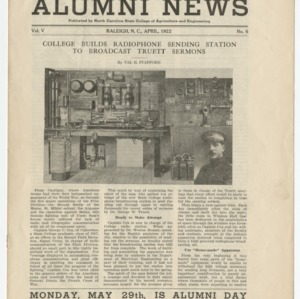 Alumni News, Vol. 5 No. 6, April 1922