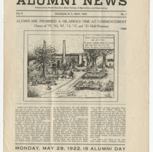 Alumni News, Vol. 5 No. 7, May 1922