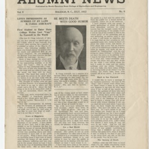 Alumni News, Vol. 5 No. 9, July 1922
