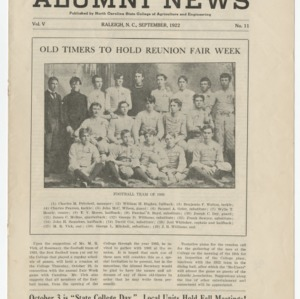 Alumni News, Vol. 5 No. 11, September 1922