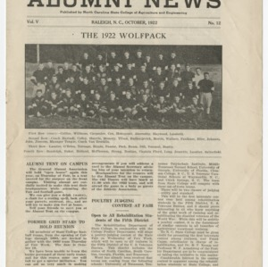 Alumni News, Vol. 5 No. 12, October 1922