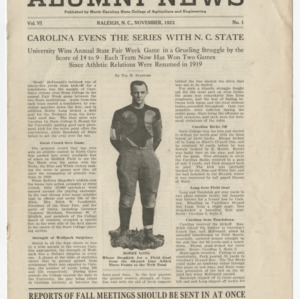 Alumni News, Vol. 6 No. 1, November 1922