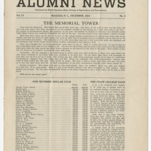 Alumni News, Vol. 6 No. 2, December 1922