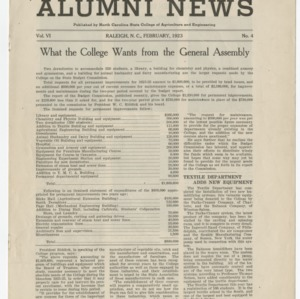 Alumni News, Vol. 6 No. 4, February 1923
