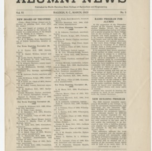 Alumni News, Vol. 6 No. 5, March 1923