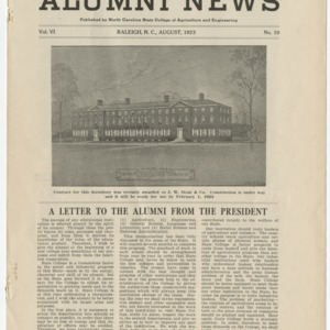 Alumni News, Vol. 6 No. 10, August 1923