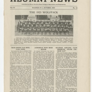 Alumni News, Vol. 6 No. 12, October 1923