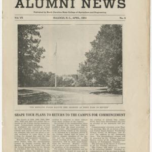 Alumni News, Vol. 7 No. 6, April 1924
