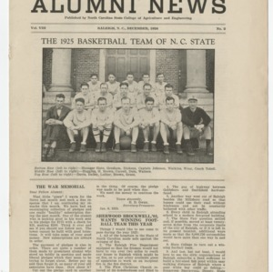 Alumni News, Vol. 8 No. 2, December 1924