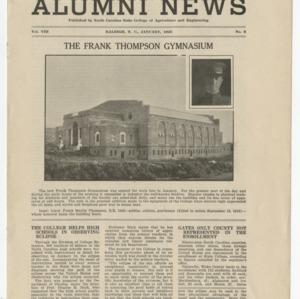 Alumni News, Vol. 8 No. 3, January 1925