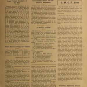 Alumni News, Vol. 1 No. 1, November 1, 1917